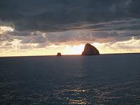 鬱陵島 夕暮れ時